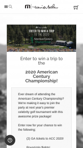 Travismathew – 2020 American Century Championship Giveaway Sweepstakes