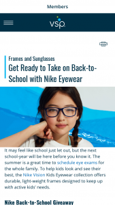 Vsp – Nike Back-To-School – Win a Nike prize package that includes one (1) $200 Nike gift card