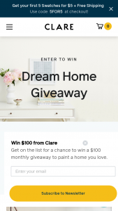 Clare – Summer Home Makeover Giveaway – Win products from Clare and other brands