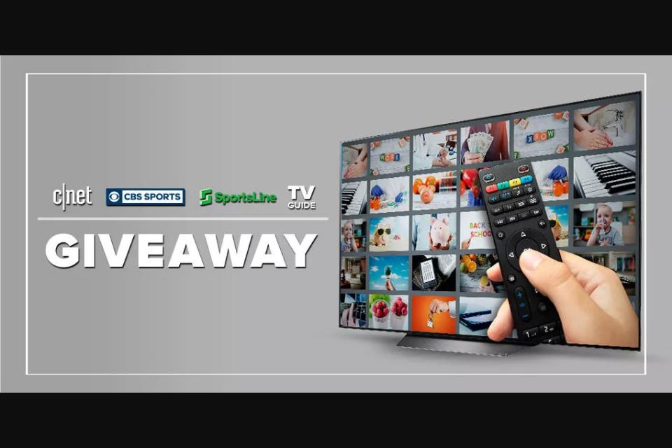 CNET CBS Sports Sportsline TV Guide – Big TV – Win one