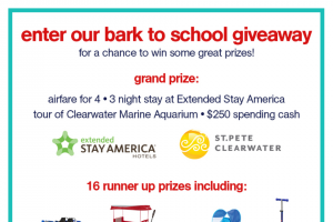 Extended Stay America – Back To School Giveaway – Win a prize from the list below each  Week (prizes will rotate over the 16 separate drawings)  Five (5) 3-in-1 Radio Flyer 3-in-1 EZ Fold Wagons with canopies