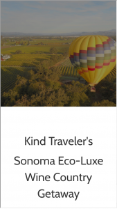 Kindtraveller – Sonoma Wine Country Dream Escape Sweepstakes