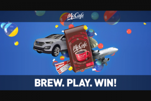 Kraft And Mcdonalds – Mccafé Instant Win – Win at a hotel (single room double occupancy) ground transportation in destination city to and from airport and hotel and $1000.00 spending money