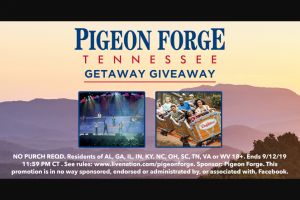 Pigeon Forge Department Of Tourism – Getaway Giveaway Sweeps
