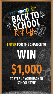 Sunnyd – Back To School Kick Off Contest – Win via mail within