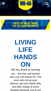Wd-40 – Live Life Hands On Contest – Win $5000 PLUS one (1) WD-40 Brand Hoodie