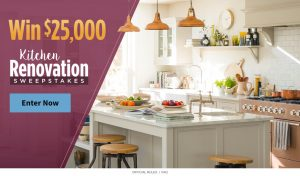 Meredith – All Recipes – Win $25,000 to renovate kitchen