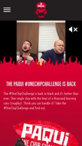 Amplify Snack Brands – Paqui One Chip Challenge – Code Or Mail Sweepstakes