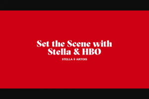 Anheuser-Busch – Stella Artois Set The Scene With Stella & Hbo Instant Win Game – Limited States – Win one (1) FandangoNOW promotion code that can be used to download and own one (1) episode of HBO's Ballers