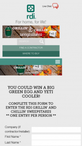 Barrette Outdoor Living – Rdi Grillin' And Chillin' – Win a Big Green Egg Starter Kit and YETI Cooler