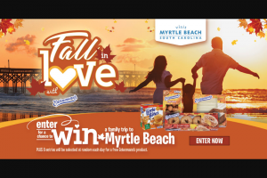 Bimbo Bakeries – Fall In Love With Entenmann's Visit Myrtle Beach Giveaway – Win a trip that includes three (3) nights