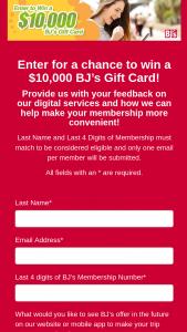 Bj's – Digital – Win BJ's Wholesale Club Gift Card