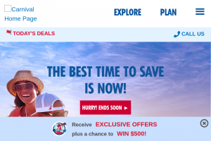 "Carnival – Saints Choose Fun – Win a $1500 Carnival Cruise Line (""Carnival"") e-gift card"