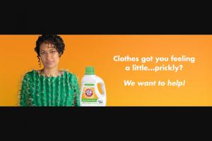 Church & Dwight Arm & Hammer – Sensitive Detergent – Win twelve bottles of ARM & HAMMER Free & Clear Sensitive Skin detergent