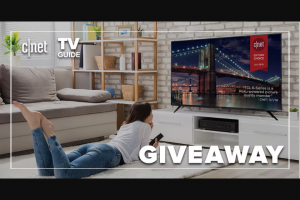 CNET – TV Guide Binge Galore Giveaway – Win of one (1) 75-inch TCL 6-series TV one (1) Sanus – Premium Series Advanced Tilt TV Wall Mount and one (1) Logitech Harmony Elite universal remote and one (1) smart hub bundle