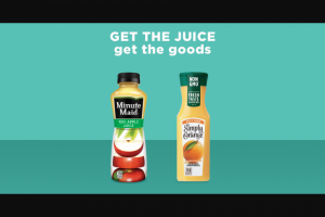Coca-Cola – Minute Maid And Simply Beverages Sweepstakes
