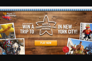 Cracker Barrel – Road To The Holidays – Win a trip for four (4) to New York