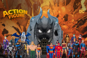 DC Entertainment – DC Action Figure – Win the following    One (1) DC Primal Age Batcave Play Set – $49.99   One (1) DC Collectibles Justice League Aquaman
