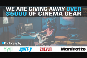 Diyphotography – Cinematography Start-Up Package Sweepstakes