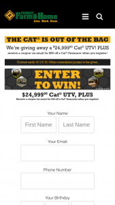 Family Farm & Home – Cat Giveaway Sweepstakes