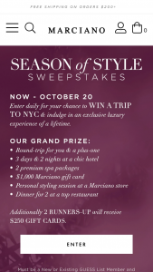 Guess – Season Of Style Sweepstakes