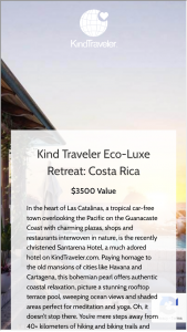 Kindtraveller – Costa Rica Beach Front Escape Sweepstakes