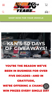 K&n – 50th Anniversary Sweepstakes