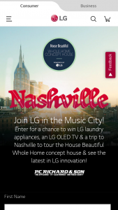 LG – House Beautiful Whole Home Weekend In Nashville – Win a suite of LG laundry products
