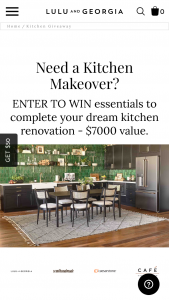 Lulu And Georgia – Kitchen Makeover Essentials Sweepstakes