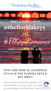Monroe County Tourist Development – Florida Keys Luxury Honeymoon Giveaway – Win one Air Travel Card