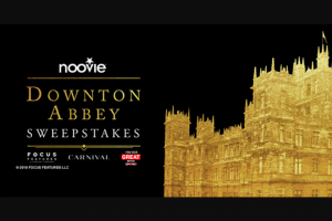 National Cinemedia – Noovie Downton Abbey – Win during the  consisting of a trip for two (2) (winner and one (1) guest) for five (5) days/four (4) nights to London England