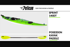 Paddlingcom – Pelican – Win the Sprint 140DT kayak and the Poseidon Paddle.