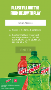 Pepsi – 2019 Mtn Dew/speedway Free Mtn Dew For A Year Sweepstakes