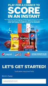 Pepsi – Nfl Instant Win  At Circle K Sweepstakes