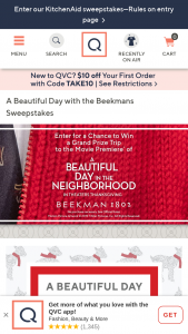 QVC – A Beautiful Day With The Beekmans – Win trip for two to the red carpet premiere of A Beautiful Day in the Neighborhood if held will be awarded