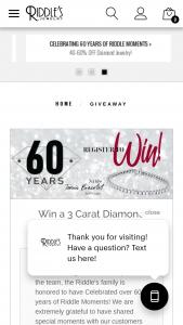 Riddle's Jewelry – 3 Carat Diamond Tennis Bracelet Sweepstakes