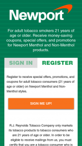 Rj Reynolds – 2019 Newport Payday Deal21 Instant Win Game – Tobacco Consumers – Win $200.00 (awarded in the form of a check