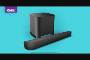 Roku – Soundbar – Win (1) Roku Smart Soundbar ($179.99) and one (1) Roku Smart Subwoofer ($179.99).