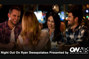 Ryan Seacrest – Night Out On Ryan – Win check in the amount of $2000.00 made payable to the Winner