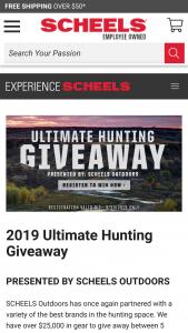 Scheels – Ultimate Hunting Giveaway – Win 1 (Big Game Package) One Christensen 6.5 Creedmoor Ridgeline