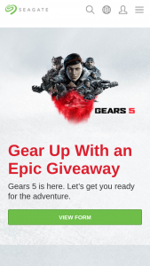 Seagate – Ultimate Gears 5 Giveaway Sweepstakes