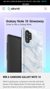 Skinit – Galaxy Note 10 Sweepstakes