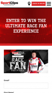 Sport Clips – Ultimate Race Fan Experience – texas Sweepstakes