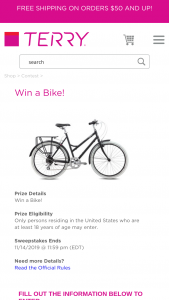 Terry Bicycle – Win A Bike – Win a Terry Bicycle