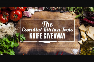 Today Show – Sur La Table Kitchen Essentials Knife Giveaway – Win the following one Wusthof knife and one $49 gift card to Sur La Table