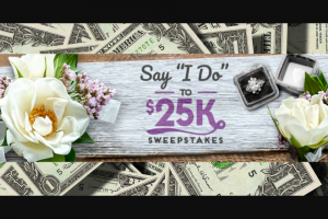 "Travel Channel – Say I Do To $25k – Win the following (the ""Grand Prize"") $25000 presented in the form of a check"