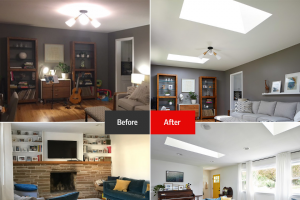 "Velux – Daylight Renovation – Win (2) VELUX No Leak Solar Powered Fresh Air Skylights with Solar Powered Blinds and installation in the winner's home (""ARV"") with installation is $5000 (Five Thousand Dollars US)."
