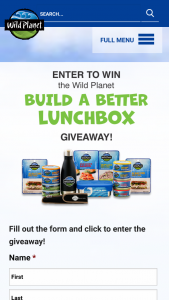 Wild Planet Foods – Build A Better Lunchbox Giveaway – Win 1 Wild Planet water bottle 1 Wild Planet bamboo utensil set and an assortment of Wild Planet products