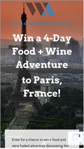Wine Awesomeness – Paris Wine Adventure Sweepstakes