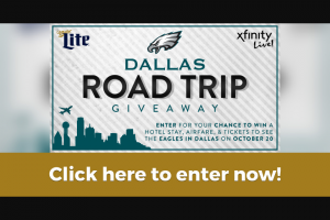 Xfinity – Dallas Road Trip Giveaway 2019 Sweepstakes